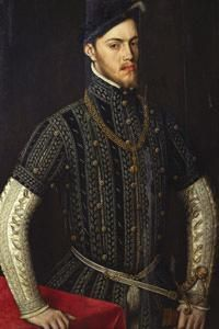 A portrait of Phillip II, King of Spain (1527-98).
