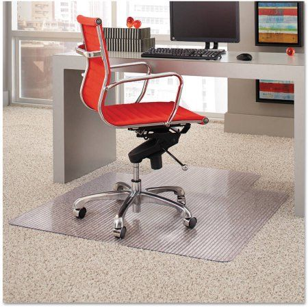 ES Robbins Dimensions Chair Mat for Carpet, 45 inch x 53 inch with Lip, Clear