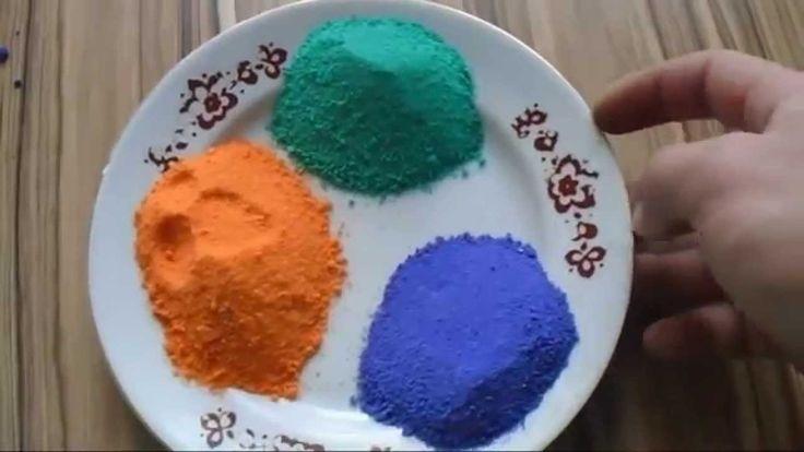 Цветной песок своими руками