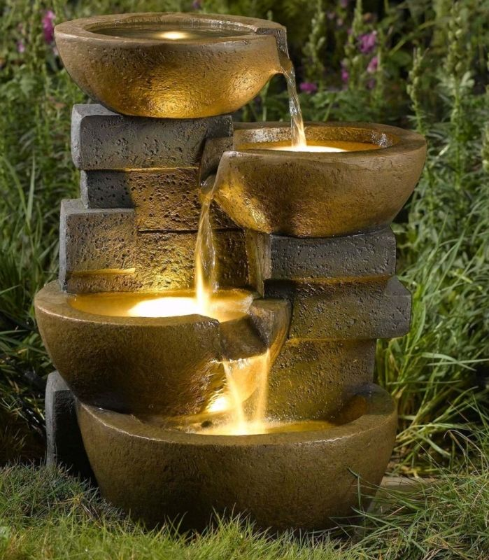 Pots Water Fountain with Led Light