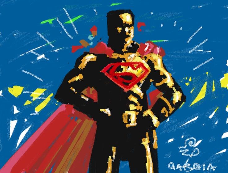 Superman digital crayon.
