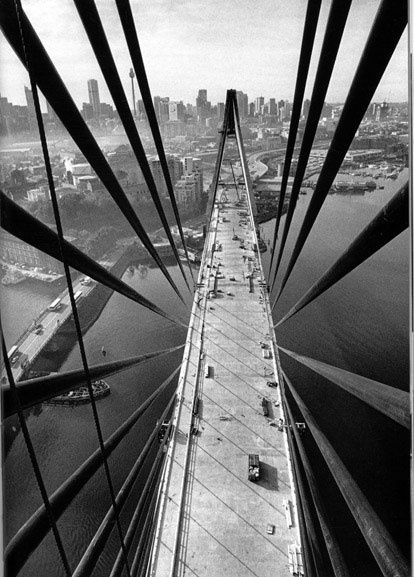 Anzac Bridge construction