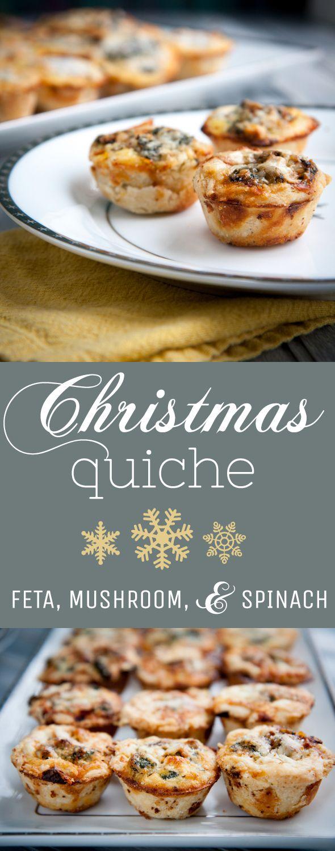 Mini Christmas Quiche