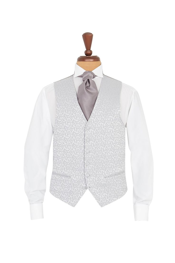 Silver Brocade Morning waistcoat