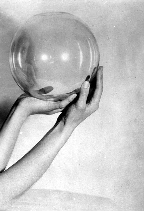 "lesthetiquedelinventaire: "" Ernst Wenke, Hand study with glass ball, ca. 1930 """