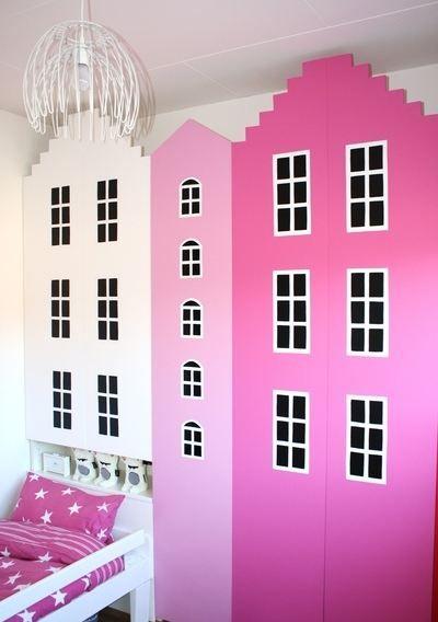 DIY: Kast van een Huis wardrobe / cabinets for the kids room