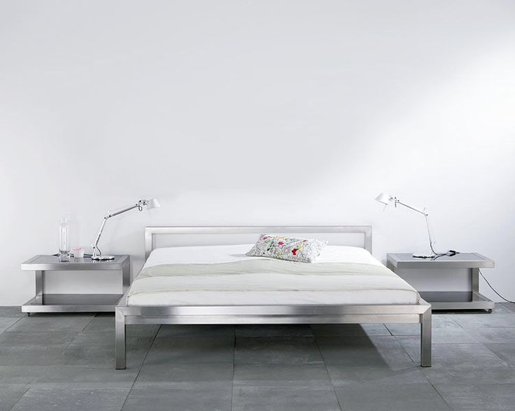 Hotelbett PURE brushed stainless steel Quality for Generations  Design HANS HANSEN 1978 140x200, 160x200, 180x200, 200x200cm