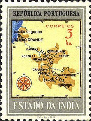Los enclaves interiores de Dadrá y Nagar Haveli eran dependencias del territorio de Damão pero fueron ocupados por la Unión India el 2 de Agosto de 1954 .
