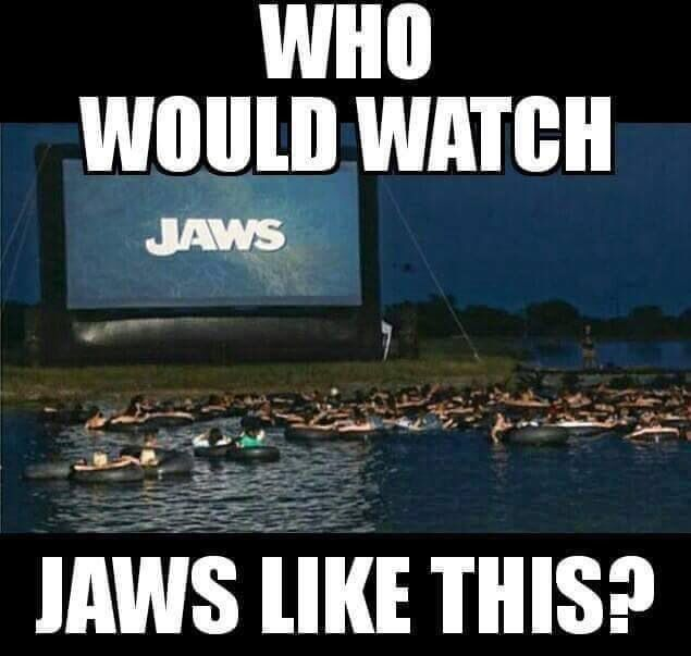 There's probably sharks sitting below waiting to munch the fck out of the audience. 3D at it's best.