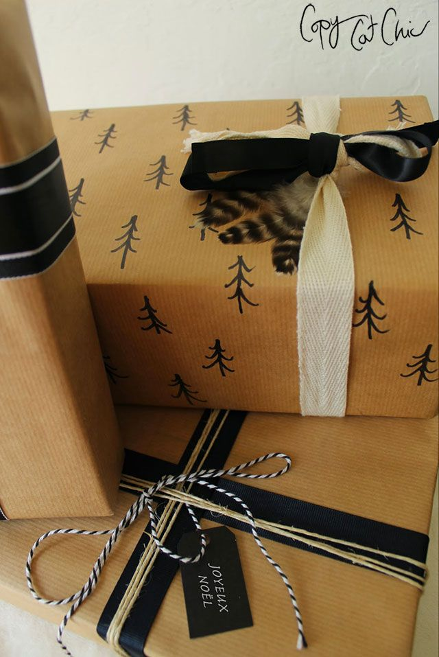 Christmas Gift Wrap on the Cheap with Lowe's | Copy Cat Chic