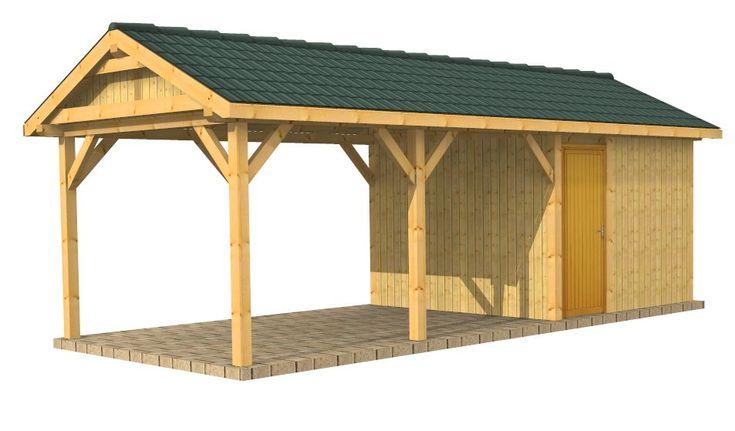 79 best carport images on pinterest sheds garages and for Carport with storage shed plans