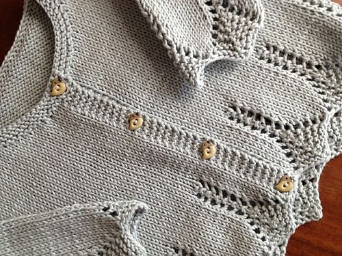 ❤︎ ravelry: erikalondon lace edged cardigan 6-9 months - pattern 'saskia' from debbie bliss's 'eco family' book
