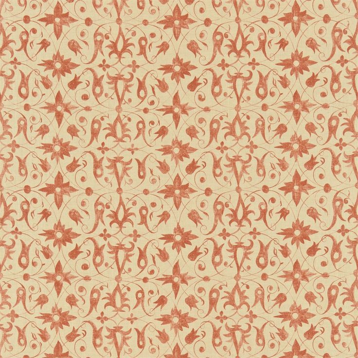 Zoffany Fabric - Saffron Walden 320484 Terracotta