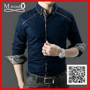kemeja pria slim fit batik mr word MTFA26 3