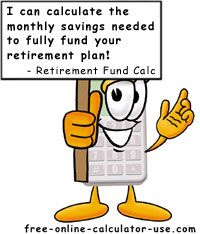 Retirement Fund Calculator with Inflation, Taxes and Post-Retirement Incomes