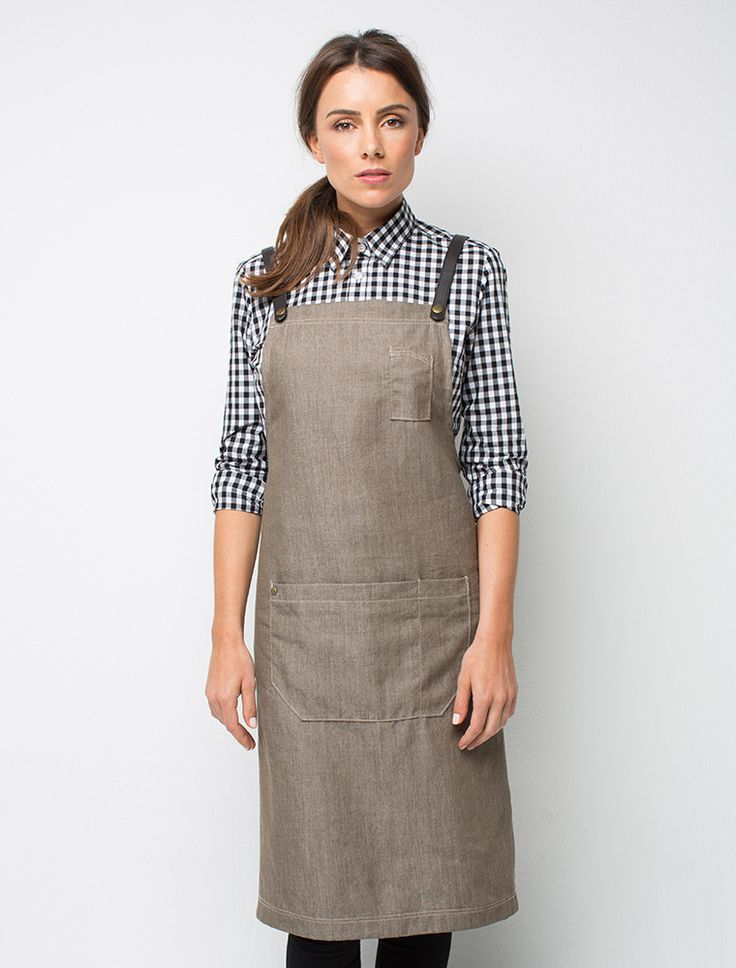 I like the gingham check with the apron over the top. Nice change to stripes! http://cargocrew.com.au/products/cargo-crew-henry-denim-bib-apron-mocha