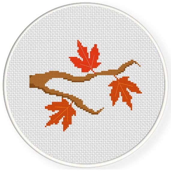 FREE for September 15th 2015 Only - Autumn Branch Cross Stitch Pattern