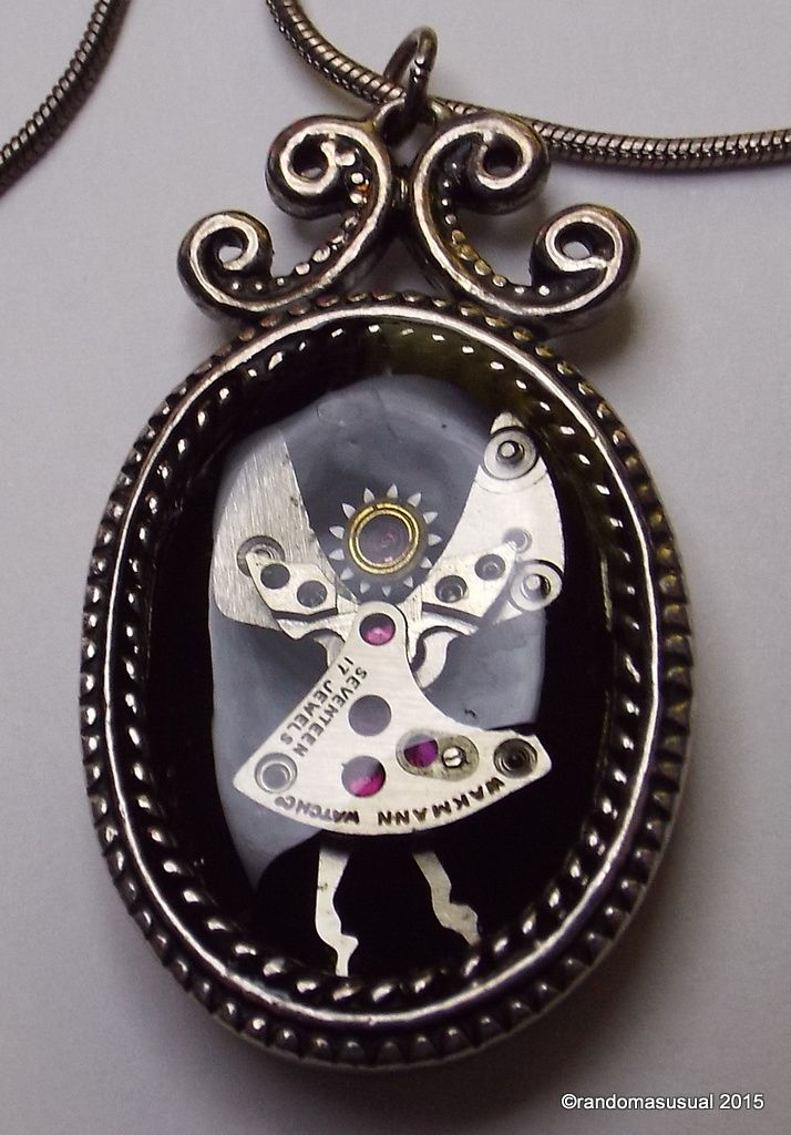 June 3, 2015 - Made a Watch Part Guardian Angel Pendant encased in resin.