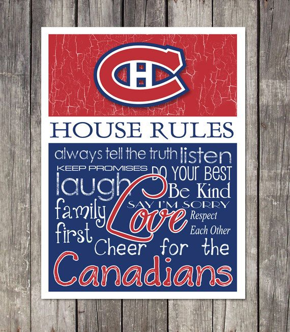 This professionally designed print is perfect for any hockey fans game room, man cave, garage or bedroom! SUPPORT YOUR FAVORITE TEAM with rules