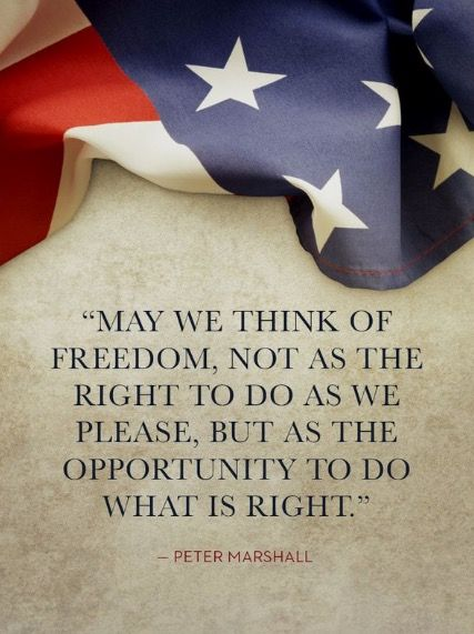 May we think of freedom...
