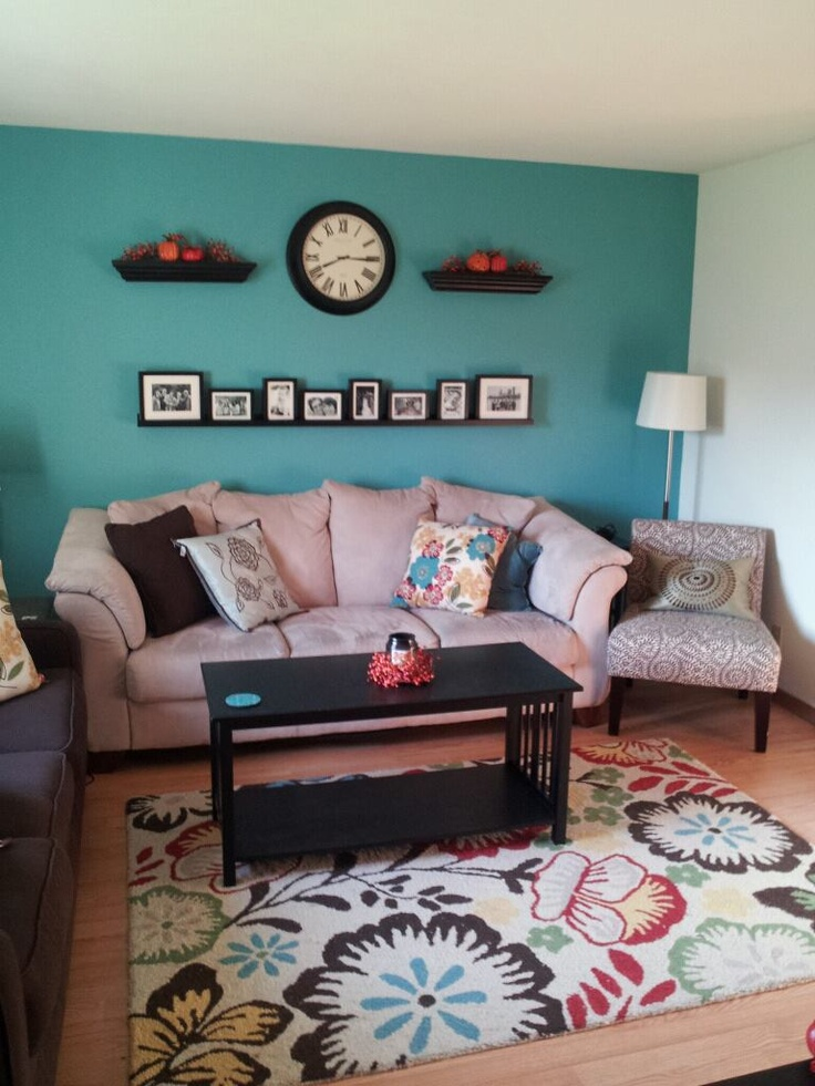 Teal Accent Wall Teal Accent Walls Home Living Room