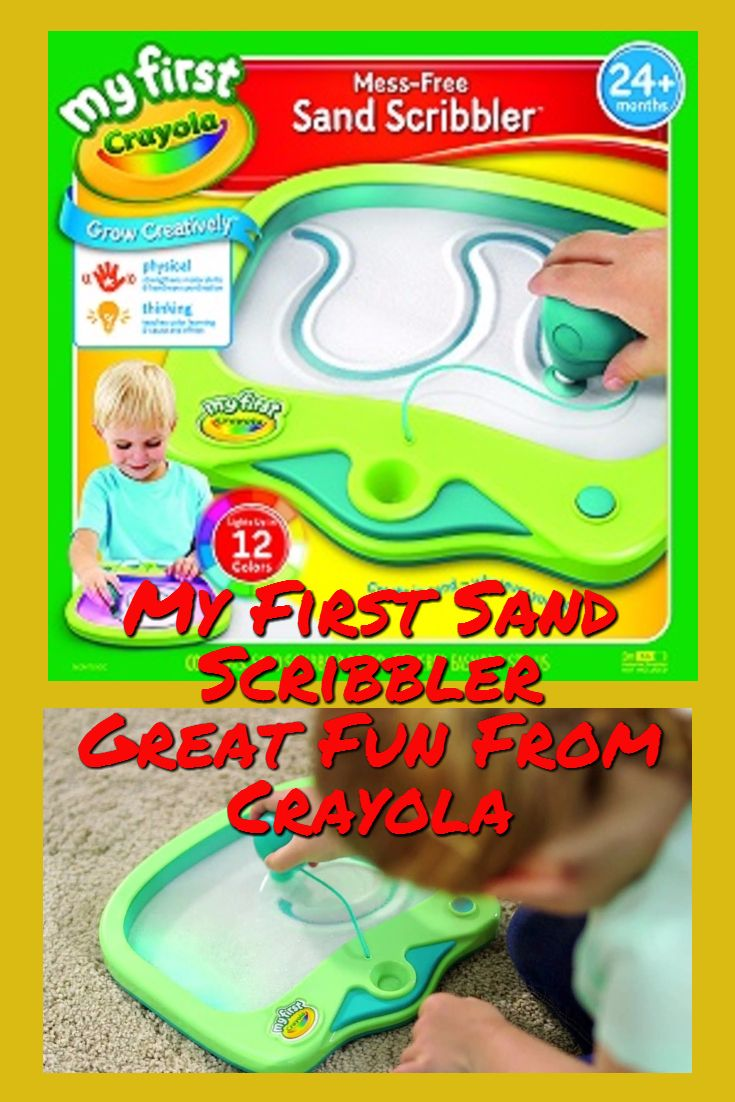 A great sand scribble pad with stylus for young children who like to get creative, and it's mess free too.