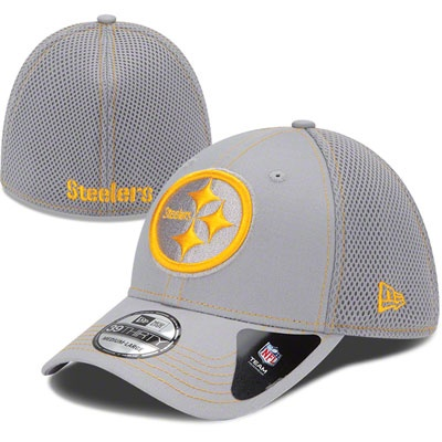 Pittsburgh Steelers NFL 39THIRTY Gray Neo Hat