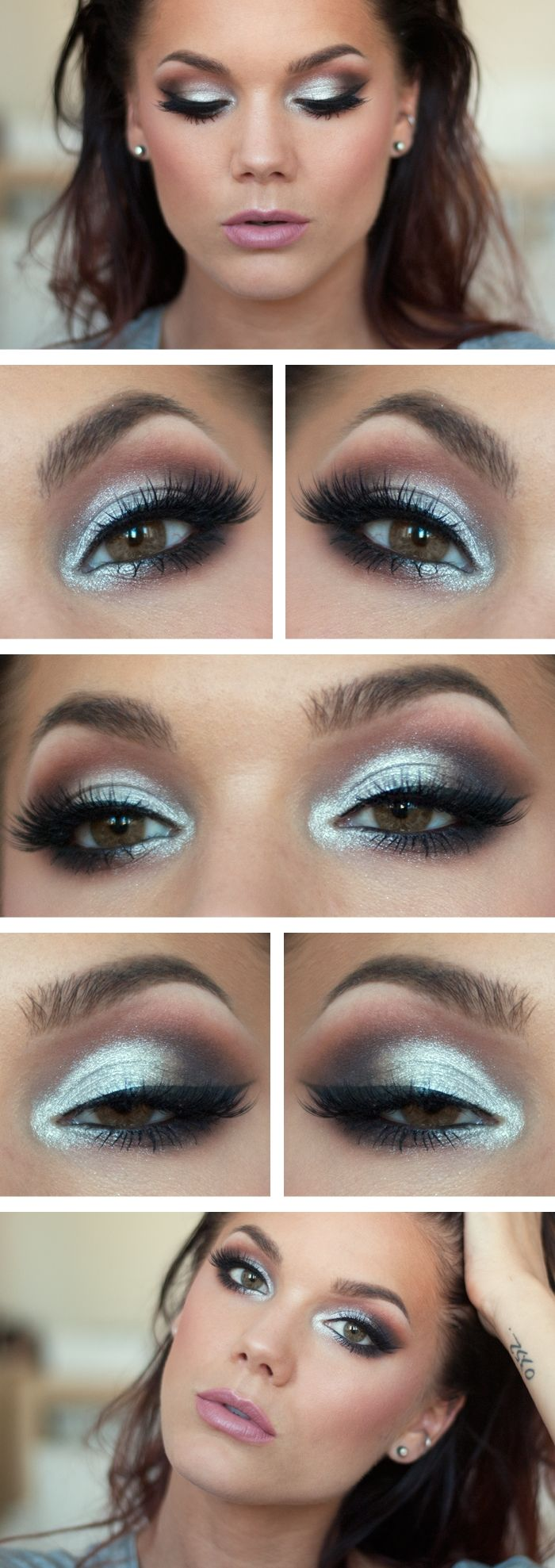 White dress eye makeup - Birthday Make Up
