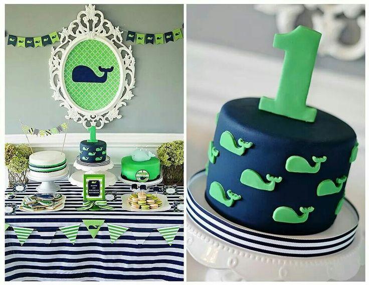 Cute whale theme birthday