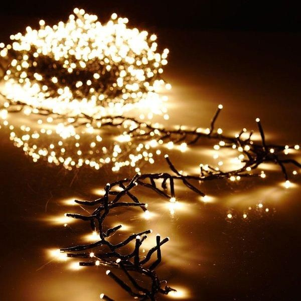 Electric Led Warm White Cluster Light Garland W Timer And Remote Christmas Light Installation Cluster Lights Hanging Christmas Lights