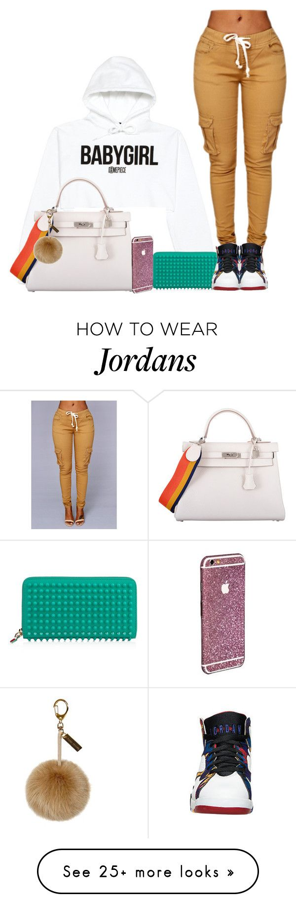 """""""20. Babygirl"""" by mamiina on Polyvore featuring VFiles, Christian Louboutin, Hermès, women's clothing, women, female, woman, misses and juniors"""