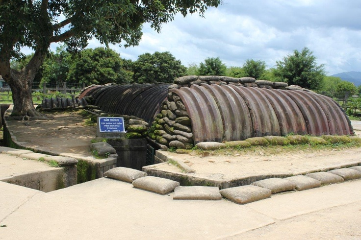 The French command post bunker at Dien Bien Phu. The home of DeCatries. It is possible to enter the bunker and see the map on the wall.