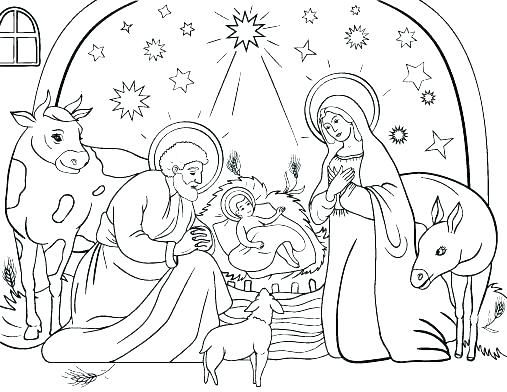 Coloring Pages Of The Nativity Page Missal Art Sheets Scene