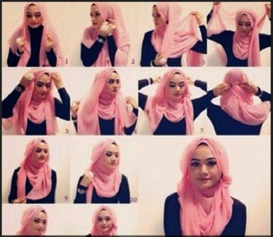 foto tutorial hijab segi empat