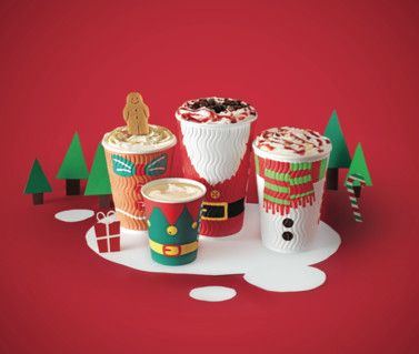 Love these festive limited edition Christmas take-out cups by Costa Coffee.