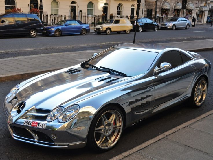 Dream Car in chrome - Mercedes Mclaren Roadster. I will own you.