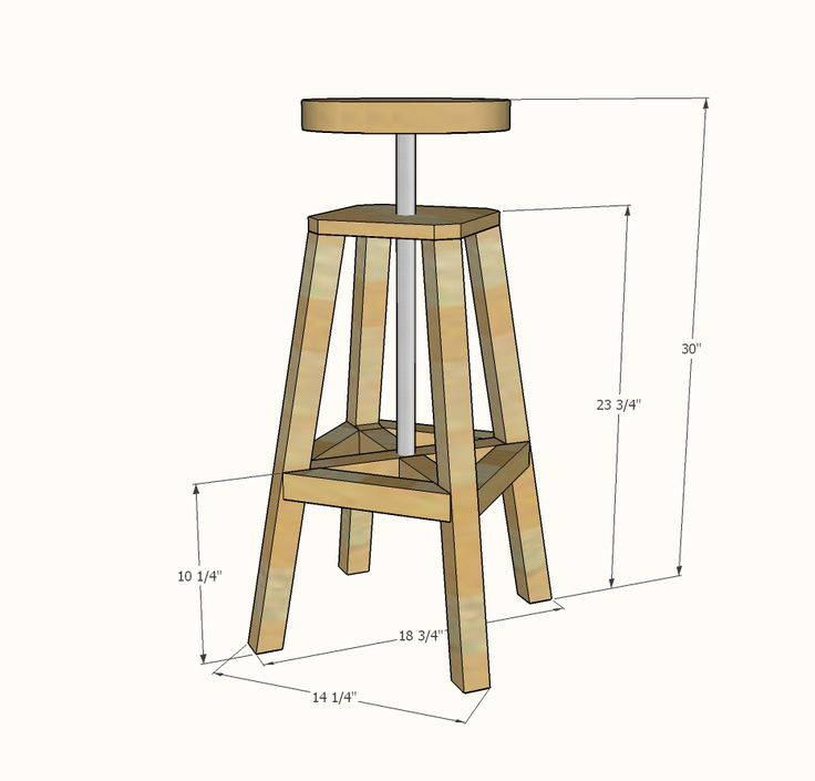 Wooden Bar Stool Plans Free Woodworking Projects Amp Plans