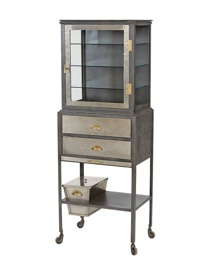 Dapper Glass Showcase from Industrial Inspired Home feat. Hip Vintage on Gilt