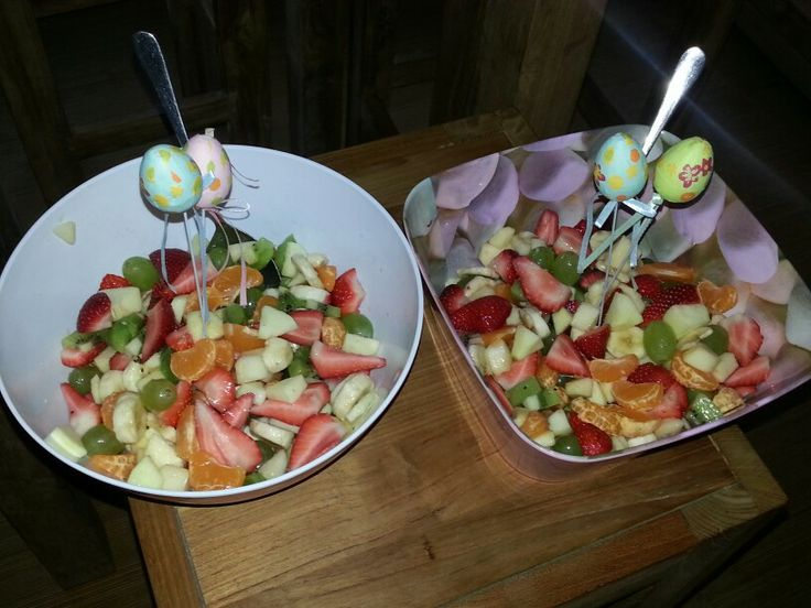 Paasontbijt. Lekkere verse fruitsalade.