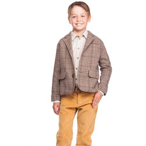 Пиджак в клетку для мальчика от YUME, арт. 158, купить в интернет-магазине   Kinderzel.ru