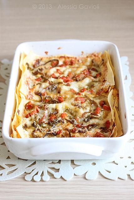 {Welcome Autumn} - Lasagne alle verdure dellorto e formaggi - Muffins, cookies e altri pasticci