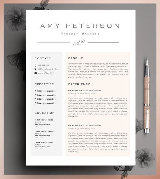 21 best Creative CV Templates Download images on Pinterest - how to do a resume on microsoft word 2007