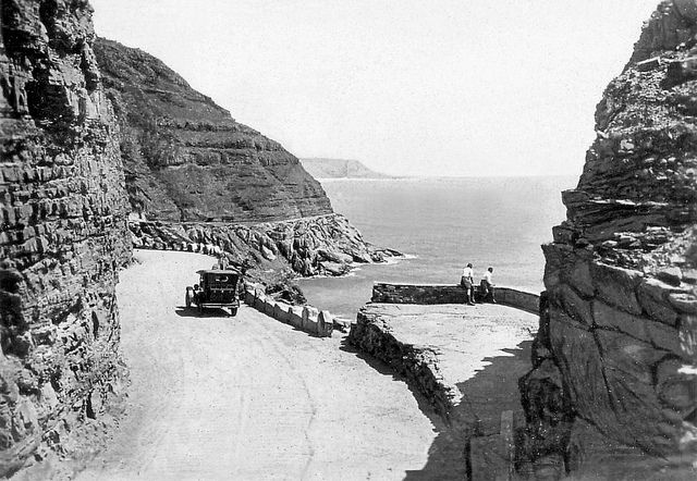 Cape Town history Chapman's Peak Drive in the 1920s