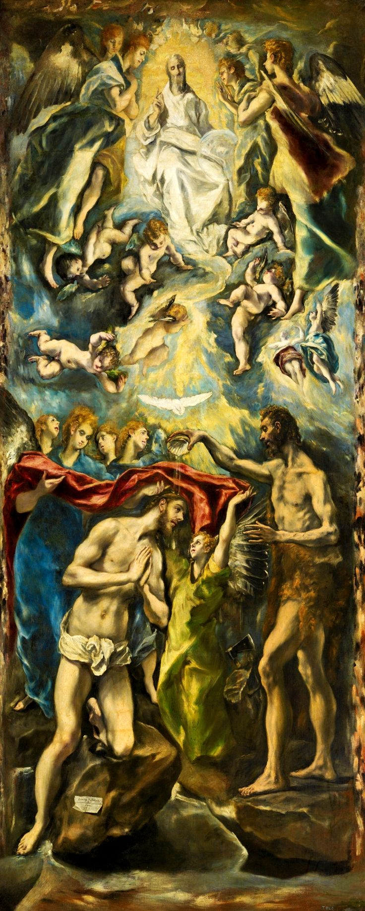 EL GRECO. The Baptism of Christ. 1600.