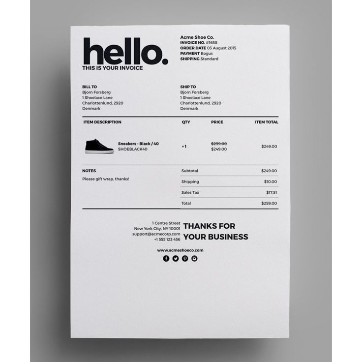 Best 20 Invoice Design ideas – Professional Invoice Template