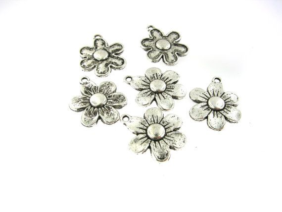 12 pcs 19mm Antique Oxidized Silver Tone by FancyGemsandFindings, $4.65