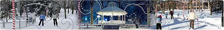 Gage Park Outdoor Skating Trail - Closed for the season  Sunday - Thursday 10am - 10pm Friday - Saturday 10am - 11pm Change rooms are available at this location. Concessions are available at this location and Chrome on the Range food trailer i available Friday evenings, Saturday & Sunday Located at Main St. S. & Wellington St. W in Downtown Brampton Skate Rentals Thursday - Sunday.  Click here for more information. Weather Permitting