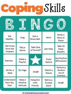 5 Ways Parents Can Help Prevent Teen >> COPING SKILLS BINGO GAME FOR KIDS AND TEENS ...
