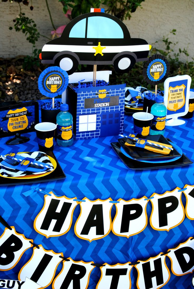 Big happy birthday badges party products party delights - Police Party Police Car Police Office Party Policeman 25th Birthdaybirthday Party Ideashappy