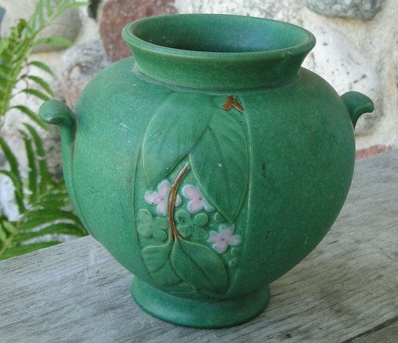 Weller Pottery Elberta Art Deco Vase from Just Art Pottery